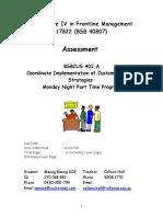 BSBWHS402 Assignment 1