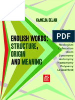 (Language Culture & Creativity 1.) Bejan, Camelia - English Words _ Structure, Origin and Meaning _ a Linguistic Introduction-Addleton Academic Publishers (2017)