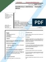 NBR 05474 - 1986 - Eletrotécnica e Eletrônica - Conector Elétrico.pdf