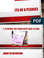 Rights of Pledgee