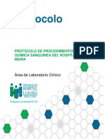 Protocolo de Procedimientos de Quimica Sanguinea