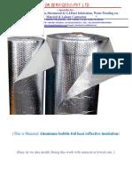 Air bubble insulation catalogue