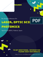 The World Conference On Laser, Optic Science & Photonics  (LSP  2020) - Spon