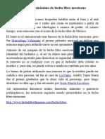 Mascaras sinonimo de lucha libre mexicana