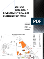 Two Proposals for Establishing Sustainable Development Goals