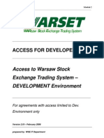 WARset Access to Developers