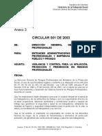 Circ 001 2003 Minproteccio s.g. r.profesionales