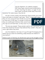 Short story the Elephant