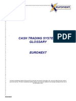 EuroNext CASH TRADING SYSTEMS GLOSSARY