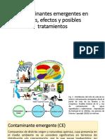 Contaminantes Emergentes en Aguas, Efectos y Posibles