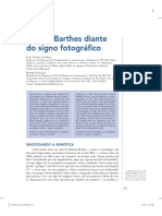 Roland Barthes Diante Do Signo Fotográfico