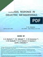 Toroidal Response 1 in Dielectric Metamaterials