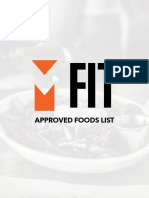Approved Foods List