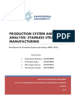 Final Stainless Straw- Production System Analysis