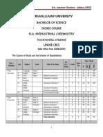 Industrial chemistry syllabus university level