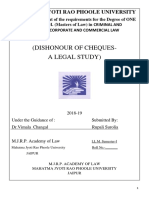 llm project - Dishonour of cheque - A legal studty.pdf