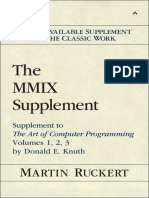 The MMIX Supplement Supplement to the Art of Computer Programming Volumes 1 2 3 by Donald E Knuth 1st Edition
