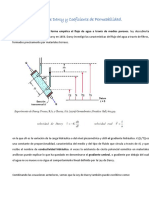 Ley de Darcy y Coeficiente de Permeabilidad 5.2y3
