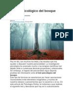 El Test Psicológico Del Bosque