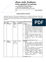 Detailed Advertisement of Various Posts (Non-Teaching & Other Academic Posts) (1-NT-R-2019)