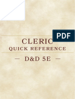 Cleric Quick Referenceghjkk