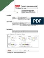 Cable RS232-RJ45 Hoja de Datos