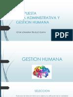 Propuesta Gestion Humana y Administracion