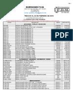 Lista de Precios Fdm (Toyota) 22-02-2019