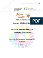 Examen diagnóstico Dominio científico. Ser Bachiller 2019