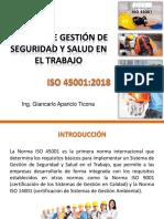 Sistema de Gestión de SST, IsO 45001-2018_1ra Sesión