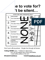 How to Vote None Poster a4