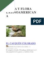 Fauna y Flora Latinoamericana
