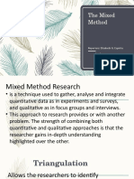 The Mixed Method Report