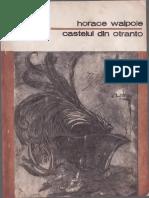 Horace Walpole - Castelul din Otranto 1982 BPT  1125