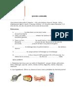 Recette Quiche Lorraine Comprehension Orale Exercice Grammatical 40037