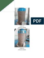 Panel de Fotos Compresion de probetas de concreto
