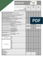 Check List Manutenzione Autoclavi