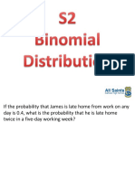 S2 Binomial Distribution Pupil Notes