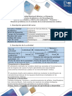 Postarea - instrumentación médica