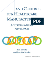 Audit and Control for Healthcare Manufacturers
