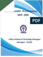 IIT KHARAGPUR, PG Brochure 2019