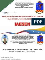 Presentación Estrategia de Seguridad de La Nación Grupo 1
