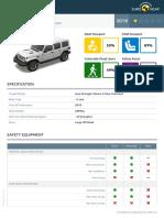 Euroncap 2018 Jeep Wrangler Datasheet