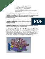 As Principais Vantagens de Robôs Em Aplicações de Automação Industrial
