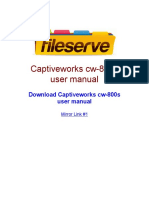 Captiveworks Cw 800s User Manual