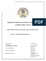 Project work on rural development of the Nagas