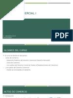 Clases Derecho Comercial I Actos de Comercio I° Semestre 2019 UMayor