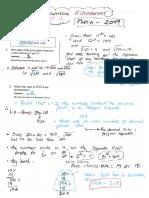 2019 key - part a - test 1 - solutions