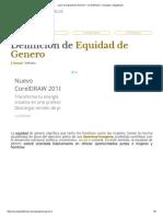 ¿Qué Es Equidad de Genero_ - Su Definición, Concepto y Significado