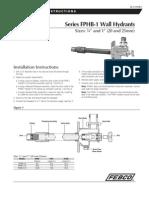 Series FPHB-1 Wall Hydrants Installation Instructions